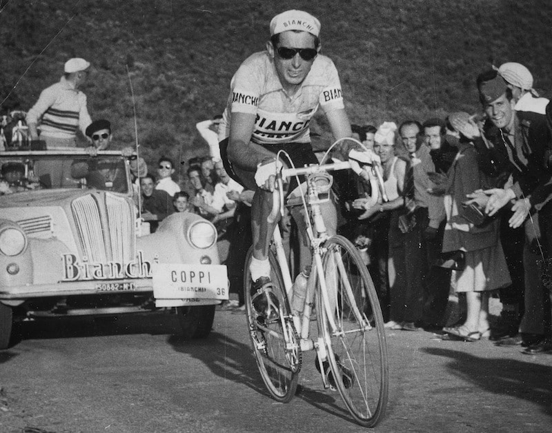 The Champion Fausto Coppi was one of the first to sport the aviator sunglasses